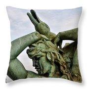 Swann Fountain Philadelphia Throw Pillow