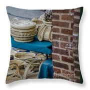 Charleston Sweet Grass Baskets Throw Pillow