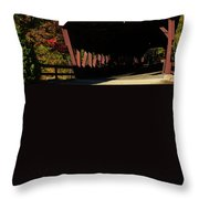 Swift River Covered Bridge Throw Pillow by Jeff Folger