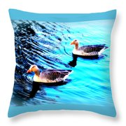 Swim With Me To The End Of Time  Throw Pillow
