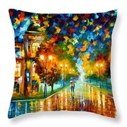 Swimming Sky Throw Pillow by Leonid Afremov