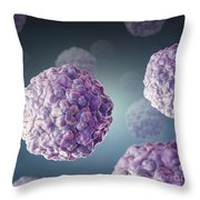 Swine Vesicular Disease Virus Throw Pillow