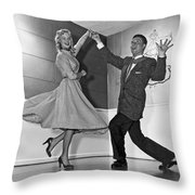 Swing Dancing Couple Throw Pillow