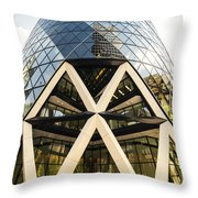 Swiss Re Tower In London Throw Pillow