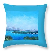 Sydney Harbour And The Opera House Cityscape View Throw Pillow
