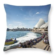 Sydney Harbour In Australia By Day Throw Pillow
