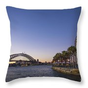 Sydney Harbour In Australia By Night Throw Pillow