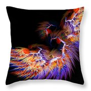 Symbol Of Fire Throw Pillow by Lourry Legarde