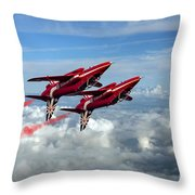Synchro Pair Throw Pillow