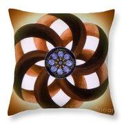 Synergy Mandala 2 Throw Pillow