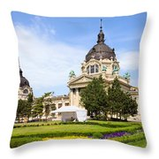 Szechenyi Baths In Budapest Throw Pillow