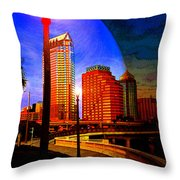 Tampa History In Reflection Throw Pillow