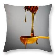 1 T. Honey Throw Pillow