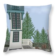 Table Bluff Lighthouse California Throw Pillow