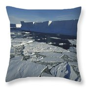 Tabular Iceberg With Broken Fast Ice Throw Pillow