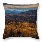 Taiga In Fall Throw Pillow