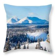 Taiga Winter Snow Landscape Yukon Territory Canada Throw Pillow