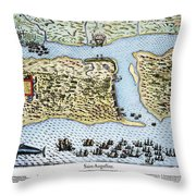 Taking Of St. Augustine Throw Pillow
