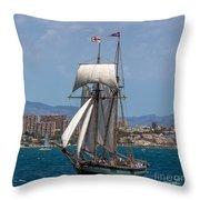 Tall Ship Alicante Throw Pillow