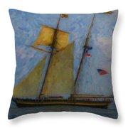 Tall Ship Sailing Throw Pillow