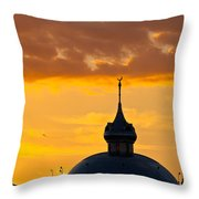 Tampa Bay Hotel Dome At Sundown Throw Pillow