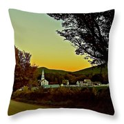 Tamworth Village At Sunset 2 Throw Pillow
