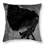 Tassled Vintage Skeleton Keys Throw Pillow