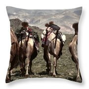 Working Camels Throw Pillow