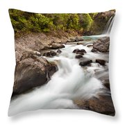 Tawhai Falls In Tongariro Np New Zealand Throw Pillow