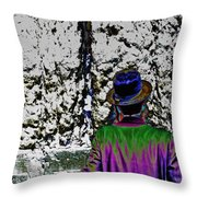 Technicolor Chassid Throw Pillow
