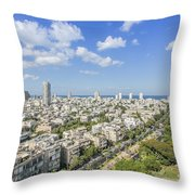 Tel Aviv Israel Elevated View Throw Pillow
