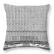 Telegraphy, 1873 Throw Pillow