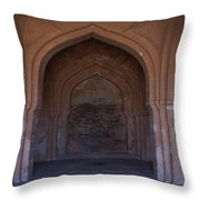 Temple In Hampi Throw Pillow