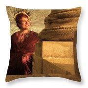 Temple Of Apollo Throw Pillow