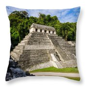 Temple Of Inscriptions Throw Pillow