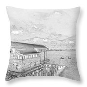 Tenby Lifeboat Station Throw Pillow