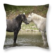 Tender Moments - Wild Horses  Throw Pillow