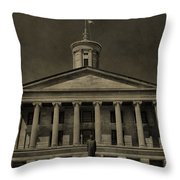 Tennessee Capitol Building Throw Pillow
