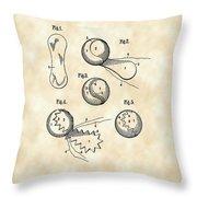 Tennis Ball Patent 1914 - Vintage Throw Pillow