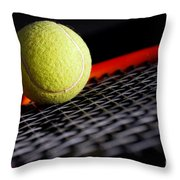 Tennis Equipment Throw Pillow by Michal Bednarek