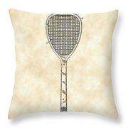 Tennis Racket Patent 1887 - Vintage Throw Pillow