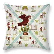 Tenochtitlan (mexico City) With Aztec Throw Pillow