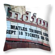 Terre Haute - Indiana Theater Throw Pillow