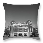 Texas Rangers Ballpark In Arlington Throw Pillow