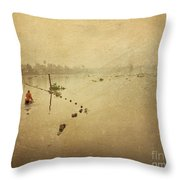 Thai River Life Throw Pillow