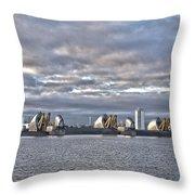 Thames Barrier London Throw Pillow