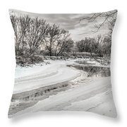 Thames River  Throw Pillow