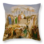 The Age Of Augustus The Birth Of Christ Throw Pillow
