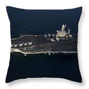 The Aircraft Carrier Uss John C Throw Pillow