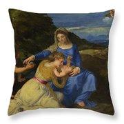 The Aldobrandini Madonna Throw Pillow